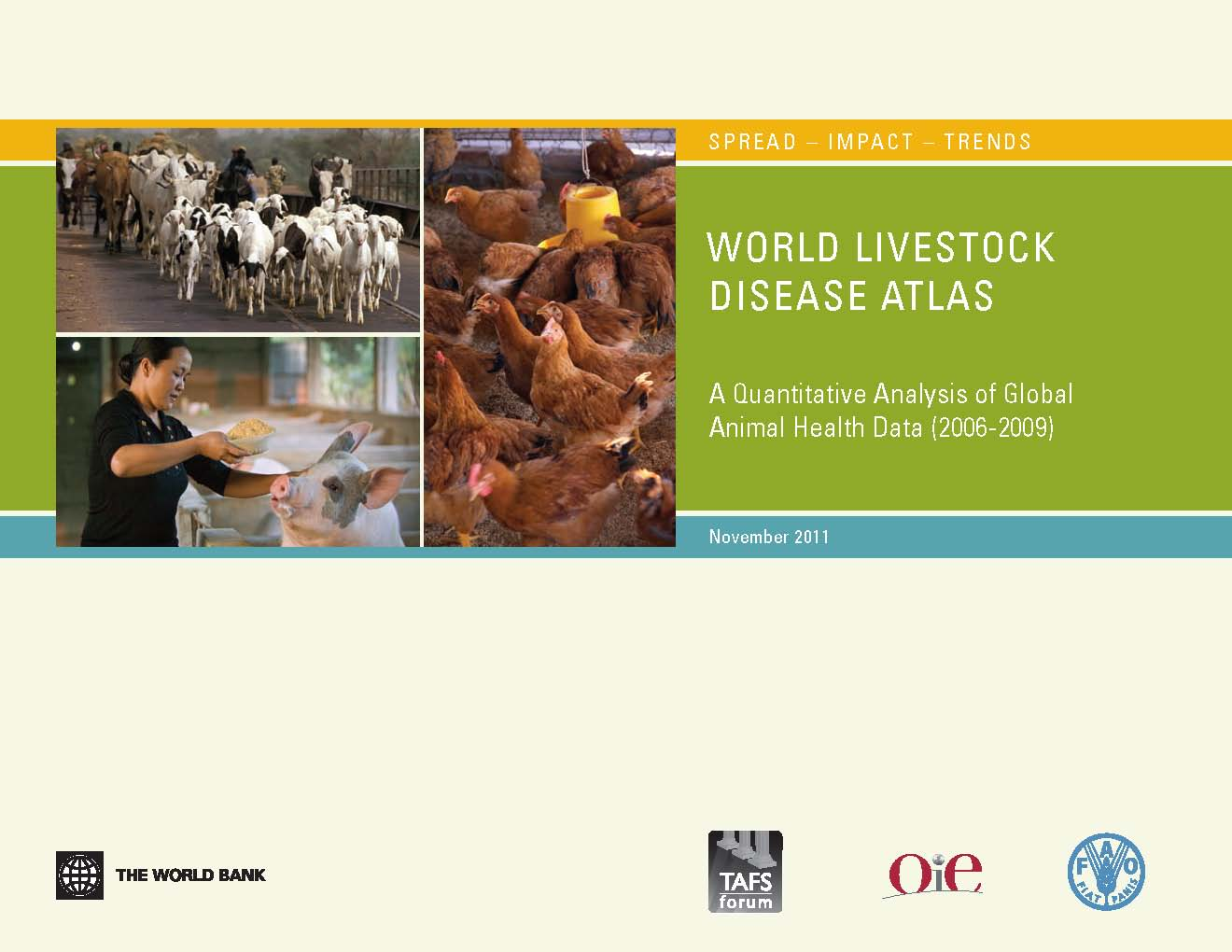 Cover page of World Bank/TAFS livestock disease atlas
